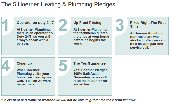 Hoerner Heating & Plumbing - 5 Pledges